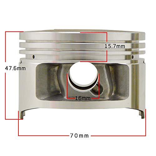 Without brand XW-HS Rings, for Yamaha XT225 Serow 85-07 TW225E 02-07 Motormontageteile STD 70 70,25 70,5 70,75 71mm PIN 16MM Motorrad Kolben Ringe D (Size : Ring 70.5mm)