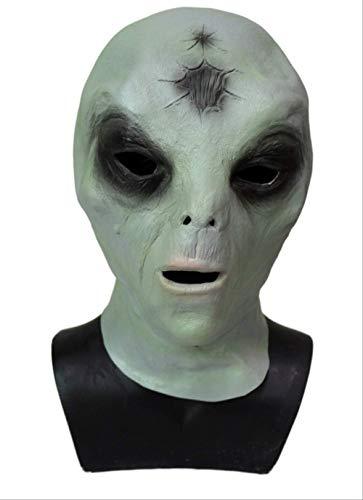 tytlmask Maschera Testa Aliena, Maschera Extraterrestre Horror UFO, Et Maschere in Gomma A Testa Piena, per Oggetti di Scena per Giochi di Halloween, Taglia Unica
