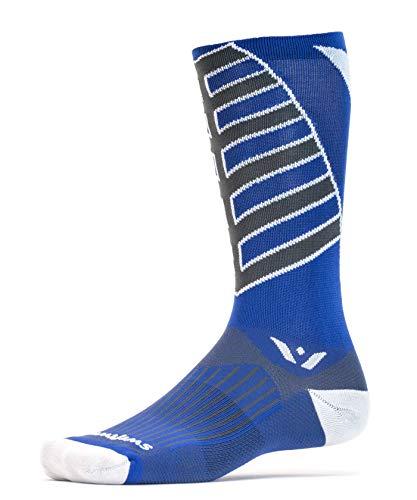 Swiftwick - Socken für Radsport, Vision Eight Team   Weiche, nahtlose Zehenpartie, leistungsstarke Kompressionsstrümpfe