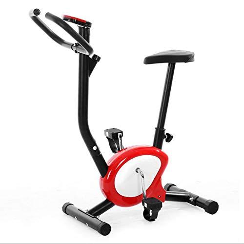 PHASFBJ Bicicleta estática para el hogar para niños, Bicicleta estática Fija con Pantalla LCD, Estilo Moderno Simple y liviano, Adecuada para el Fitness Familiar,Rojo