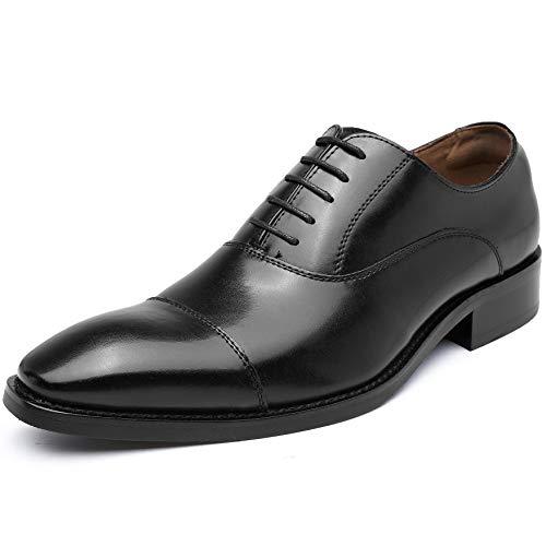 [フォクスセンス] ビジネスシューズ 革靴 軽量・撥水 ドレスシューズ 本革 ストレートチップ 紳士靴 内羽根 メンズ ブラック 26.5cm R103-11