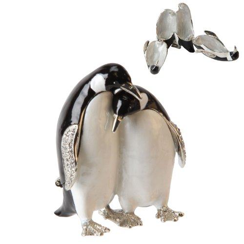 Treasured drinkets - Pair of Penguins metaal
