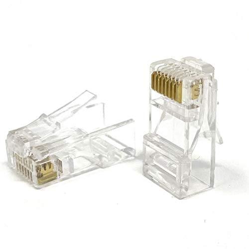 Mr. Tronic 100 RJ45-Stecker | CAT6 8P8C UTP | Modularer Stecker | 100er Packung