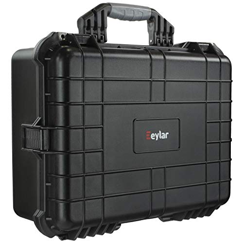 Eylar Large 20 Inch Protective Camera Case Water and Shock Proof with Foam Black
