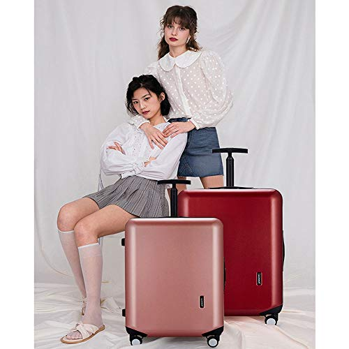 Luggage trolley caster boarding luggage suitcase lockbox (Color : Red)