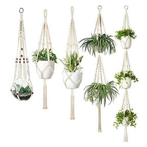 植物ハンガーネット 5セット マクラメ