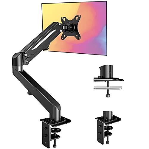 ErGear モニターアーム PCディスプレイアーム 13~27インチ 耐荷重1.5-6.5kg VESA規格100*100 多角度調節 クランプ式&グロメット式 (黒)