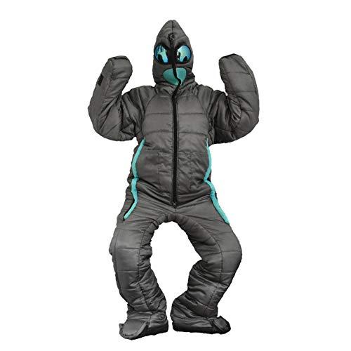 Sacco a Pelo Adulto, Tuta indossabile per Tutto Il Corpo con Gambe per Le Braccia, Custodia per Dormire a Forma di Orso per Escursioni all\'aperto, Temperatura Confortevole: da -5 ℃ a +53 ℃