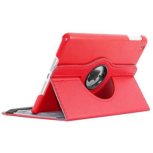 ebestStar - Cover Compatibile con iPad Mini 1/2/3 Custodia Protezione Pelle PU con Supporto Rotazione 360, Rosso [Apparecchio: 200 x 134.7 x 7.2/7.5mm, 7.9'']