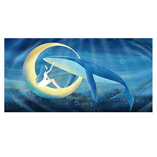 Sneldrogend Strand Handdoeken Microvezel 3D Eenhoorn Wolf Yoga Walvis Vos Stijl Handdoeken Strand Mat voor Yoga Reizen Strand Zwembad Tuin Zonnebed Mat Sjaal Deken
