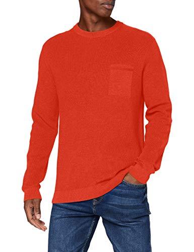 Esprit Herren 080EE2I301 Pullover, 824/ORANGE 5, Medium
