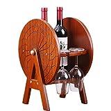YAzNdom Sostenedor De Copa De Vino Madera Decoración del Vidrio de Vino en Rack revés Colgando Creativa for Copas de Vino Titular Apto para Cafeterías (Color : Brown, Size : 28x30x40cm)