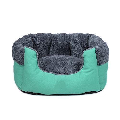 XYKILYDeep Sleep Cotton Canvas Kennel Round Short Plush Fall/Winter Nest Pad Cat Mattress Small And Medium-Sized Dogs