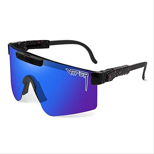 QETRYT Gafas De Sol Polarizadas Pit Viper Sport Para Hombres Y Mujeres,Gafas A Prueba De Viento Al Aire Libre, Lentes Con Espejo Uvc05