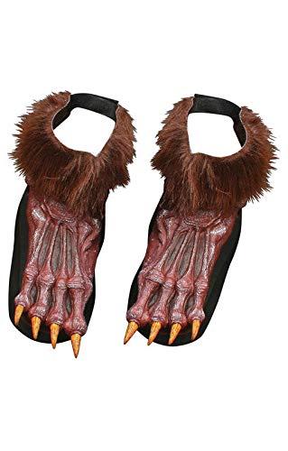 Horror-Shop Braune Werwolf Füße