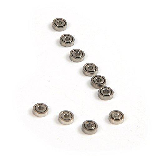 atoplee 100pcs Miniatur 681ZZ 1 x 3 x 1,0 mm Metall Schild Kugellager Rad Roller Spielzeug Modell
