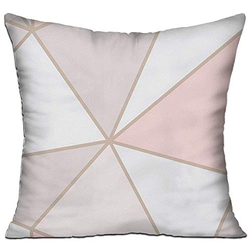 Krystal_Magic Pillowcases Throw Pillow Cases Cushion Protector for Sofa Bedroom Car - Rose Gold Marble Pillow Covers - Inserts are Not Included - 18' X 18'