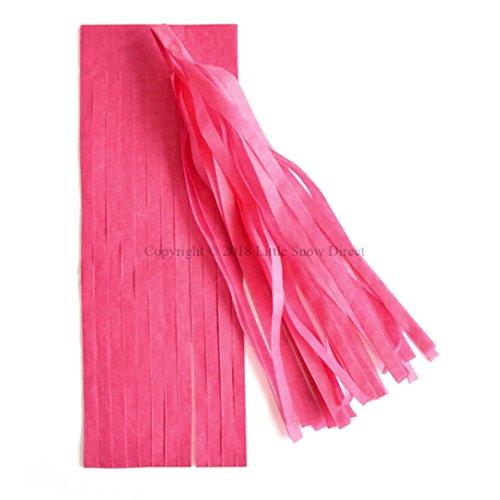 Little Snow Direct 5pcs Tassels Garland Tissue Paper Bunting Wedding Birthday Party Baby Shower - Hot Pink