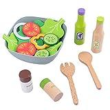Tomaibaby - Juego de cocina de juguete de madera para ensalada