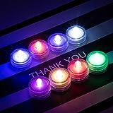 HL 36pack RGB Wasserdichte Unterwasser Runde Mini LED Teelichter Tauchleuchten f¨¹r Hochzeit Home...