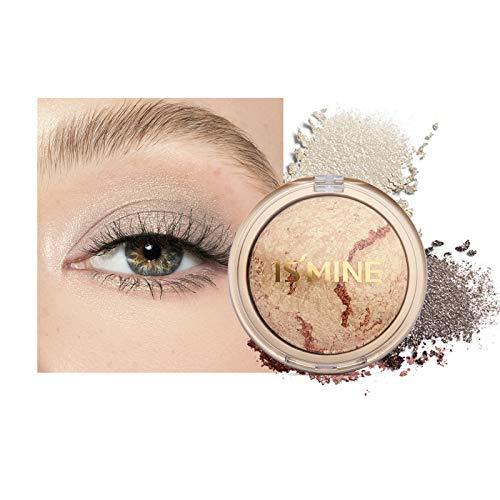Mimore Eyeshadow Metallic Shimmering Single Baked Lidschatten, Baked gerösteten Lidschatten Earthy Smoky Eyeshadow Natürliche kosmetische Lidschatten Hochpigmentierter Farbpräzisions-Lidschatten (15)