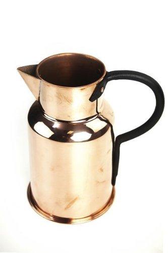 CopperGarden® Kupferkanne ❀ 1 Liter ❀ Milchkanne aus Kupfer ❀ antibakteriell