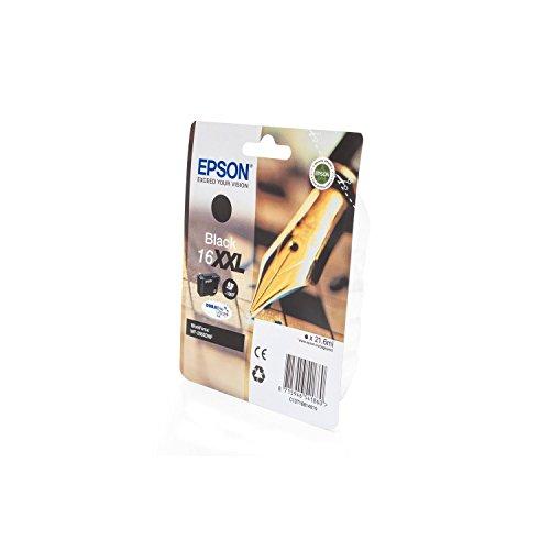 Epson Original Tinte passend WorkForce WF-2760 DWF 16XXL, T16814010 C13T16814010, T168140 - Premium Drucker-Patrone - Schwarz - 21,6 ml