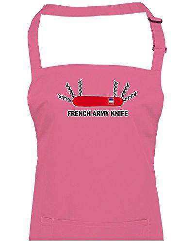 FatCuckoo L'armée française en Suisse couteau mais seulement Tire-bouchon Tablier unisexe, rose, Taille Unique