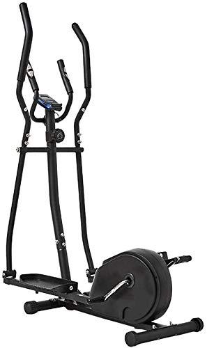 Syxfckc Crosstrainer Heimtrainer 2 in 1 kleinem Aerobic-Fitnessraum, Wohnung nach Hause Fitnessgeräte (Color : Black, Size : 156x80x47cm)