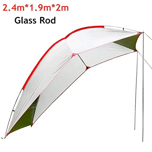LLSS Summer Camping Tent 5-8 Person Portable Waterproof Camping Tourist Tent Outdoor Picnic Barbecue Anti Uv Rain Proof Shade Shelter Awning Car Tents Glassrodred