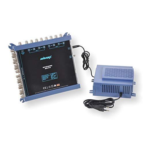 ANKARO Multischalter SEM 9/16 für den Empfang von zwei Satellitenpositionen an bis zu 16 Teilnehmer / 4K, 3D, UHD tauglich/Quattro LNC geeignet