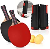 CNSSKJ Ensemble de ping-Pong Comprend Un Filet de ping-Pong pour n'importe Quelle Table, 2...