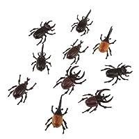 aternee 10xプラスチックビビッドビートル昆虫モデル動物キッズパーティーバッグーのパック