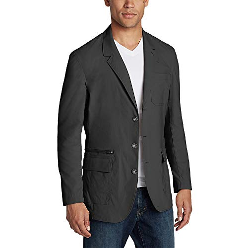 Eddie Bauer Men's Voyager 2.0 Travel Blazer, Dk Slate Regular 44