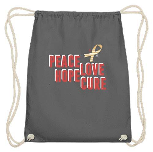 Generisch Peace Love Hope Cure - Aids-lus met vleugels - Katoen Gymsac