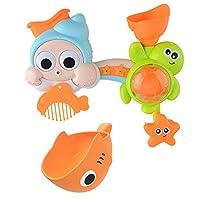 Urmagicお風呂おもちゃ 水遊びおふろおもちゃ水遊び玩具 TPR素材 安全無毒 魚 泳ぐ キッズ 子供 浮き具