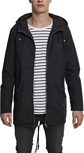 Urban Classics Herren Sommerjacke Light Cotton Parka - Farbe black, Größe 3XL