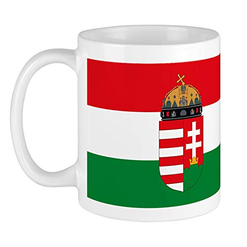 CafePress Einzigartige Tasse Ungarn Flagge Tasse–S Weiß, keramik, weiß, Größe S
