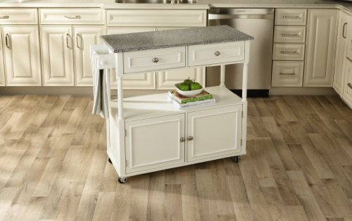 Sandra Lee Kitchen Island Cart - Granite Top