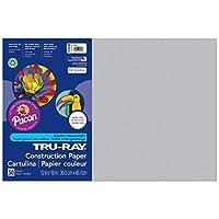 Tru-Ray PAC103059BN Construction Paper Gray 12 x 18 50 Sheets per Pack 5 Packs [並行輸入品]