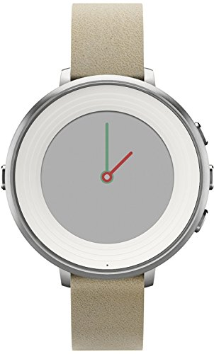 Pebble Time Round 14mm Smartwatch for Apple Android Devices - Silver Stone