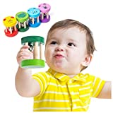 1PC木製楽器おもちゃカラーケージベルハンドベル人気の歯付きおもちゃおもちゃ教育3ヶ月6ヶ月10ヶ月0年1年2歳赤ちゃん新生児男の子女の子がクリスマスの誕生日プレゼントを祝う (緑)