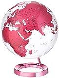 "Waypoint Geographic Light & Color Designer Series Hot Pink Illuminated Decorative Desktop Globe, 12"" World Globe"