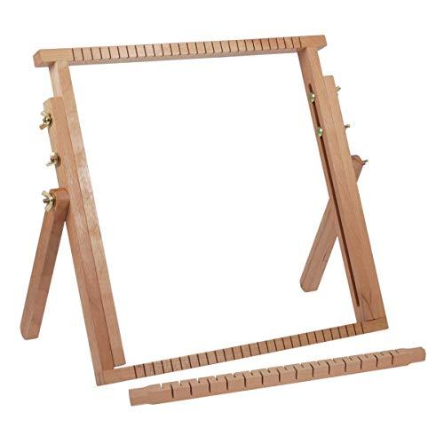 Milward - Telaio da tessitura Estensibile. In legno di faggio, 40 x 40 – 61 cm, legno, 40x40-61cm