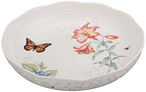 Lenox Butterfly Meadow Low Serve Bowl, White - 820575