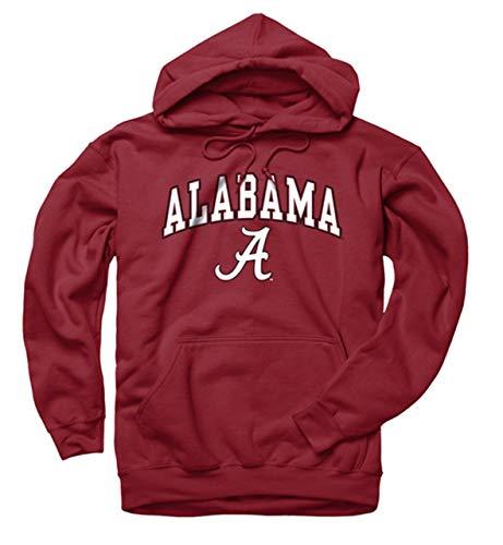 Campus Colors NCAA Adult Arch & Logo Gameday Hooded Sweatshirt (Alabama Crimson Tide - Crimson, X-Large)