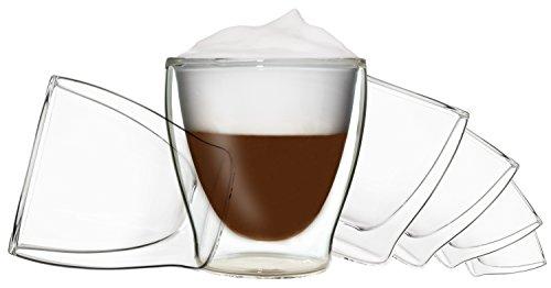 DUOS 6X 200ml doppelwandige Thermo Gläser, Whiskey, Desserts,EIS by Feelino