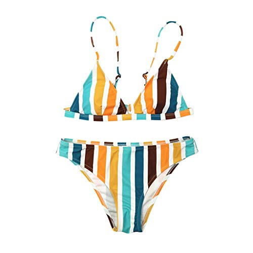 Lightning Deals Swimsuit, ZYooh 2018 Fashion Women Two-Pieces Rainbow Slim High Waisted Swimwear