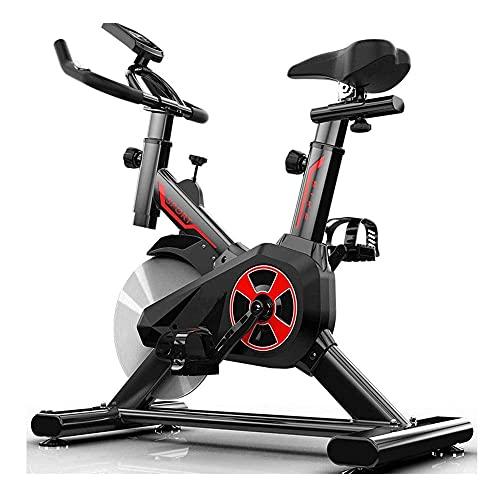 SAFGH Fitness Cardio Home Cycling, Excersize Bike para Uso doméstico, Bicicleta estática de Entrenamiento aeróbico en Interiores, Bicicleta de Spinning con Monitor de Pulso