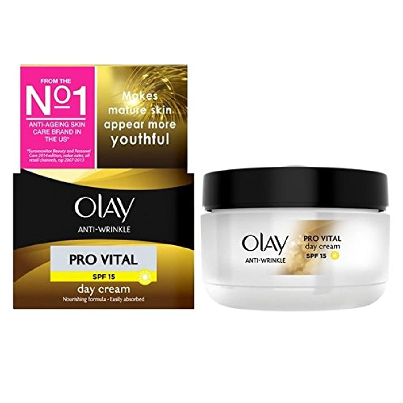 八百屋下位きょうだいOlay Anti-Wrinkle Pro Vital Moisturiser Day Cream Mature Skin 50ml - オーレイ抗しわプロ重要な保湿デイクリーム成熟した肌50ミリリットル [並行輸入品]
